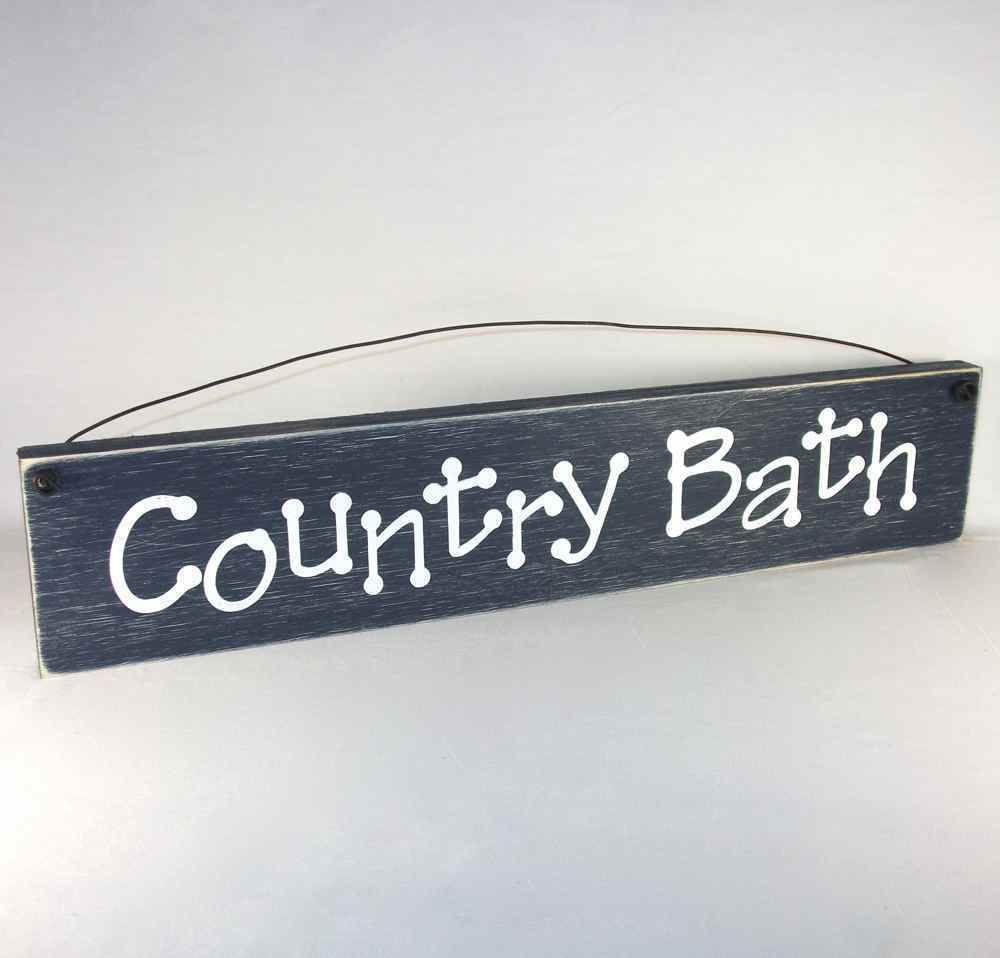 country bath bathroom signs primitive home decor ebay