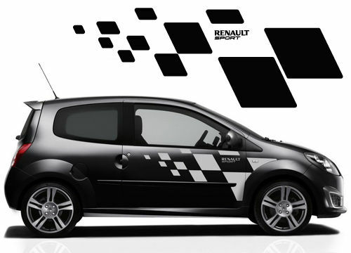 renault twingo side stickers also fit clio megane ebay. Black Bedroom Furniture Sets. Home Design Ideas