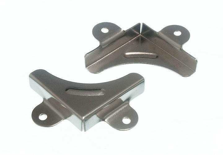 4 picture mirror corners mounting brackets chromed cp ebay for Mirror brackets