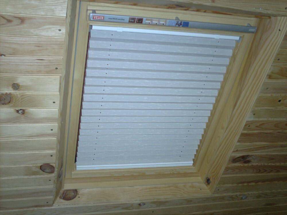 Cream blackout pleated skylight blind for velux ggl 104 ebay - Velux ggl 4 ...