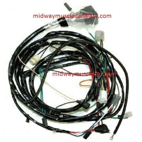 Wiring Harness 69 Nova : Front end head light lamp wiring harness chevy camaro