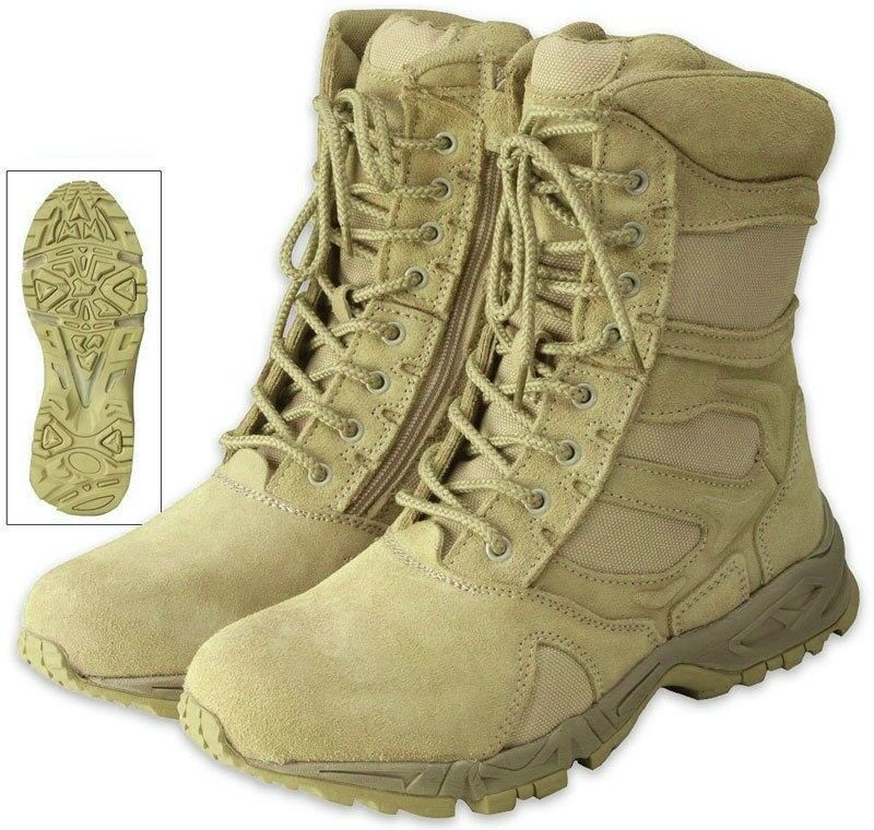 Desert Tan Side Zipper Deployment Combat Boots Ebay