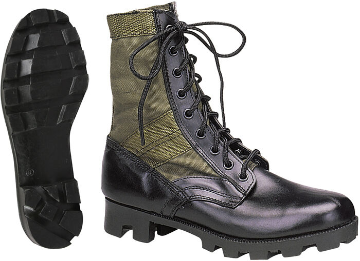 Olive Drab Leather Military Jungle Boots  d60b59569ac