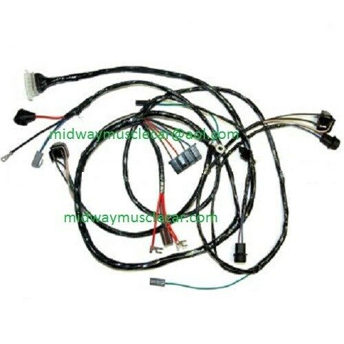 front end headlight headlamp wiring harness 65 chevy ii nova 283 327 1965 396 ebay. Black Bedroom Furniture Sets. Home Design Ideas