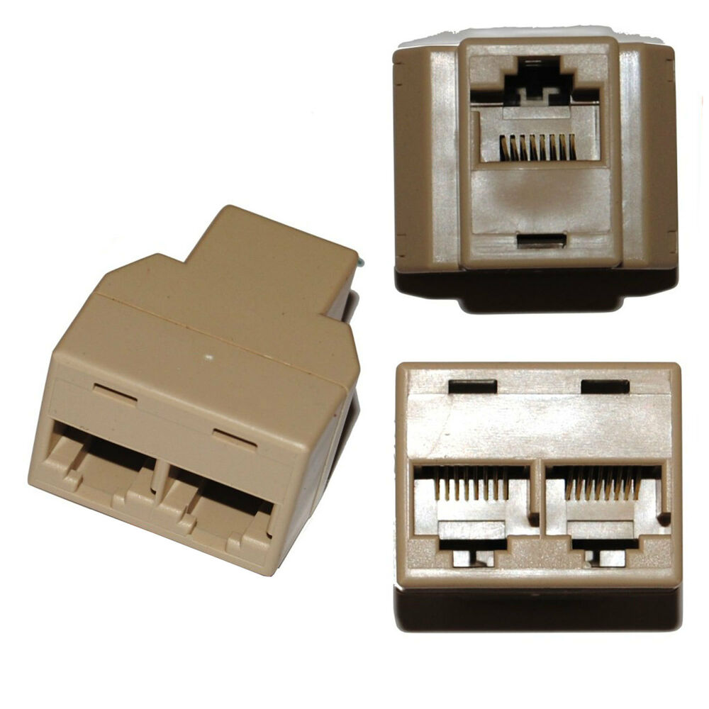 ethernet rj45 3 way network cable splitter extend plug extender add on ebay. Black Bedroom Furniture Sets. Home Design Ideas