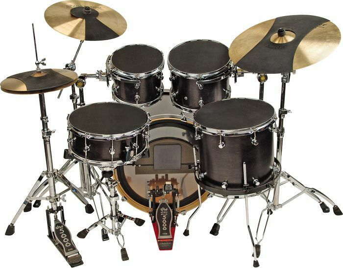 hq soundoff drum mute set 10 12 14 14 bass hi hat cym ebay. Black Bedroom Furniture Sets. Home Design Ideas