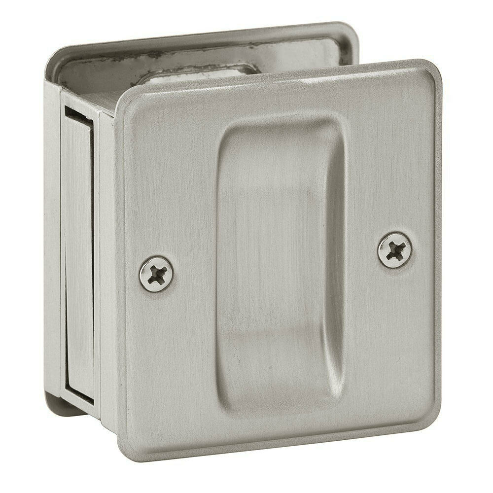Satin Nickel Pocket Sliding Door Passage Handle Pull
