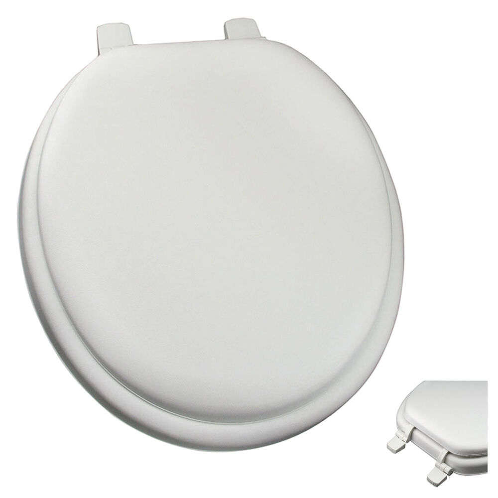 Premium White Soft Padded Round Toilet Seat Cushioned