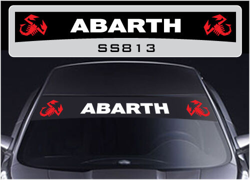 fiat abarth sunstrip 500 punto sticker decal ss813 ebay. Black Bedroom Furniture Sets. Home Design Ideas