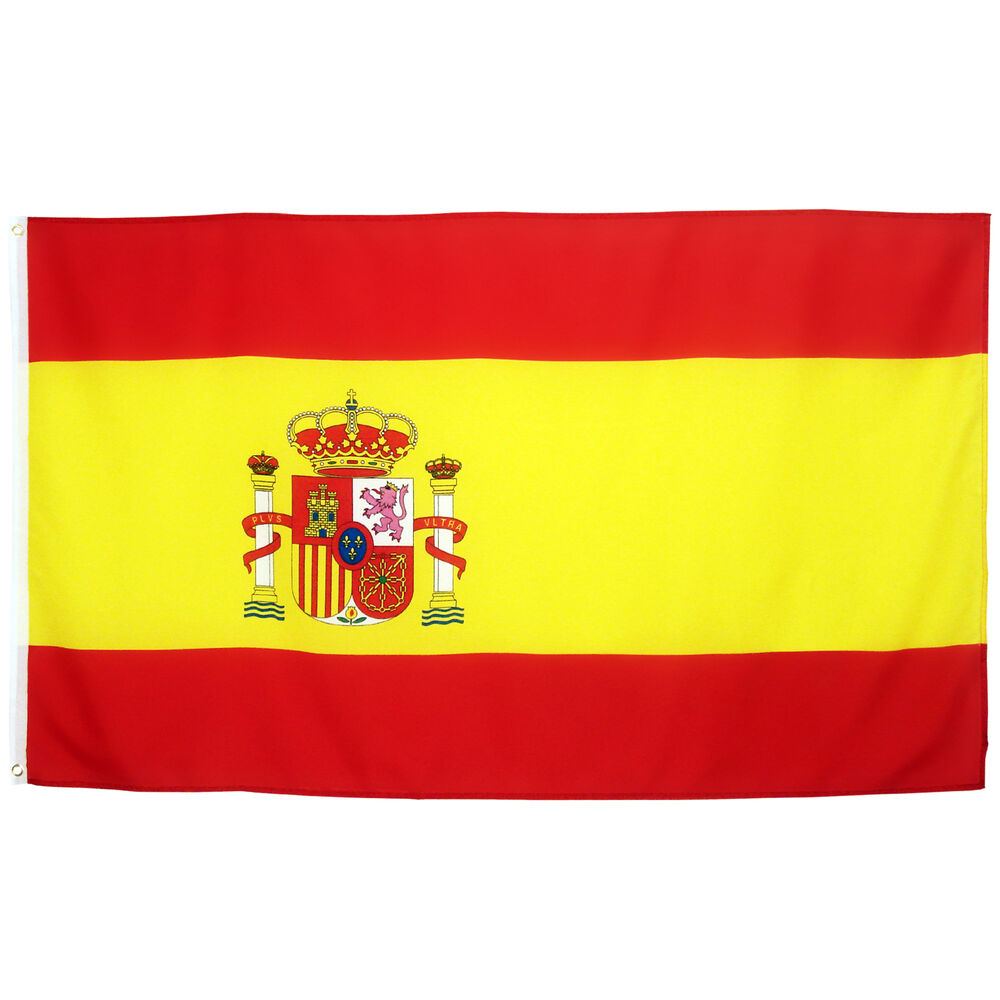 fahne spanien 90 x 150 cm spanische flagge nationalflagge ebay. Black Bedroom Furniture Sets. Home Design Ideas