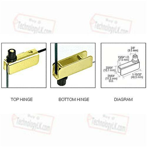 Brass Standard Mount Glass Door Hinges Pair Ebay