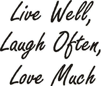 live well laugh often love much car decal sticker ebay. Black Bedroom Furniture Sets. Home Design Ideas