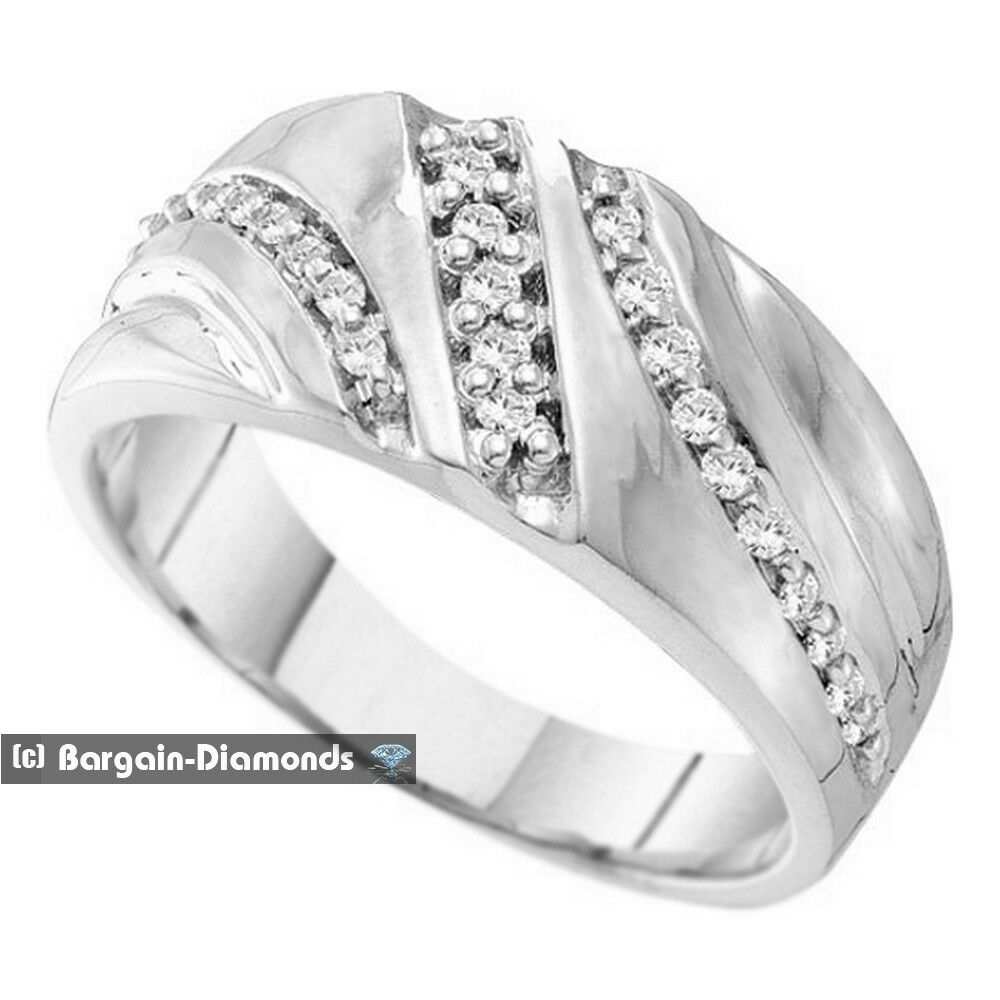 Diamond wedding 10k gold ring band 25 carat mans love for Men s 1 carat diamond wedding bands