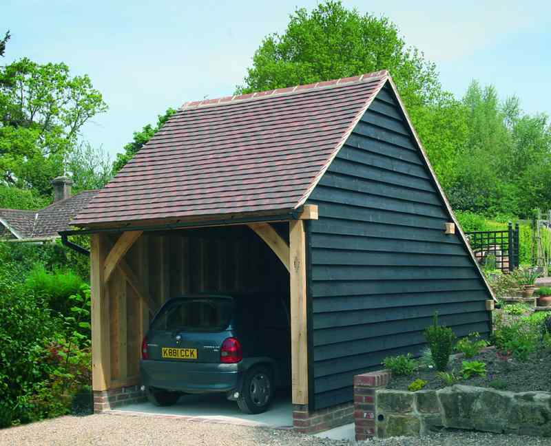 Traditional oak framed garage building kit ebay for Traditional garage