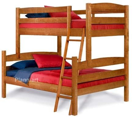 Twin over full bunk bed woodworking plans buy it now ebay for Bunk bed woodworking plans