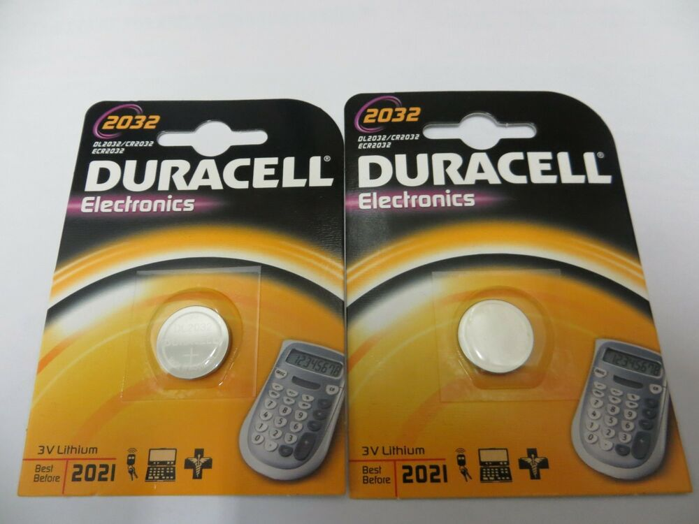 duracell 3v dl2032 cr2032 lithium battery 2 pack ebay. Black Bedroom Furniture Sets. Home Design Ideas