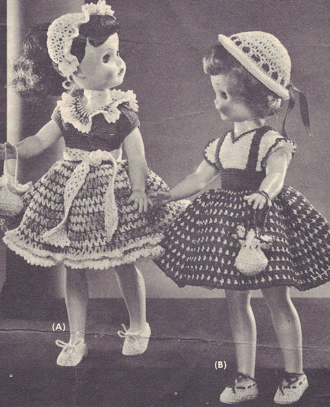 vintage crochet pattern polly molly doll clothes dress ebay