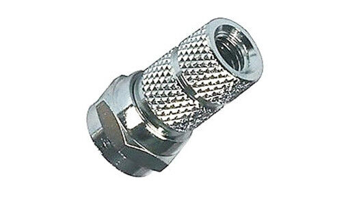 Small Diameter Cable : F connector plugs screw on small diameter mm pack ebay