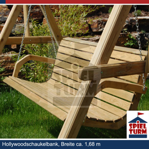 hoq hollywoodschaukel bank natur aus holz gartenm bel gartenbank ohne gestell ebay. Black Bedroom Furniture Sets. Home Design Ideas