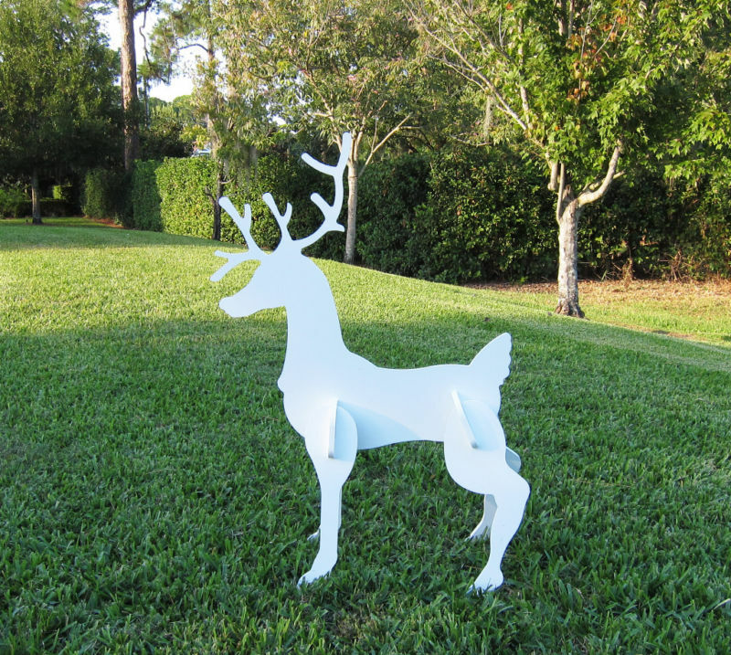 Christmas Outdoor Reindeer Yard Art Christmas Deer Ebay