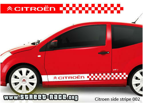 citroen side racing stripes stickers c1 c2 c3 saxo 002 ebay. Black Bedroom Furniture Sets. Home Design Ideas