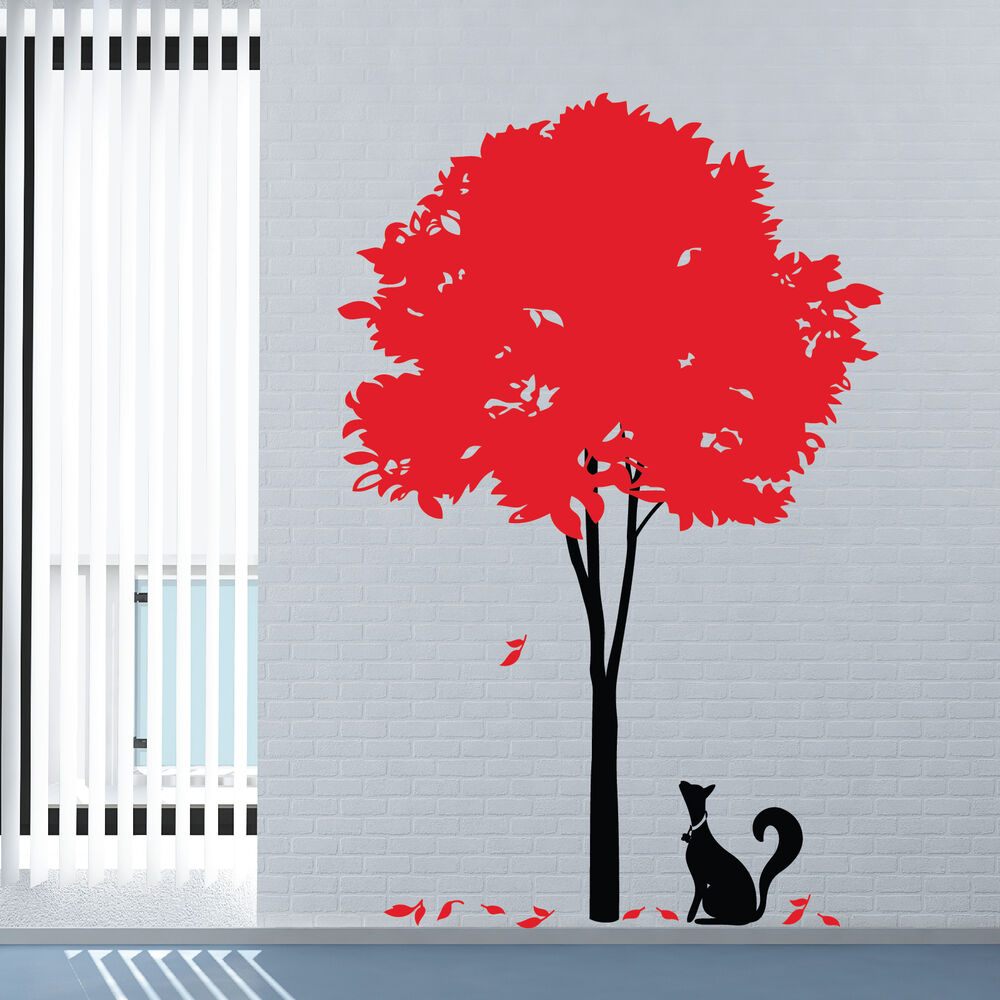 large stylish tree vinyl art wall stickers wall decal ebay. Black Bedroom Furniture Sets. Home Design Ideas