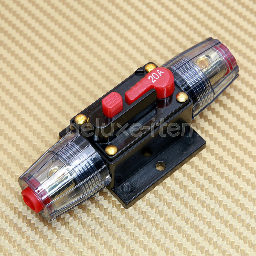 12v 24v dc car stereo audio circuit breaker replace fuse inline 20amp 20a 20 amp ebay