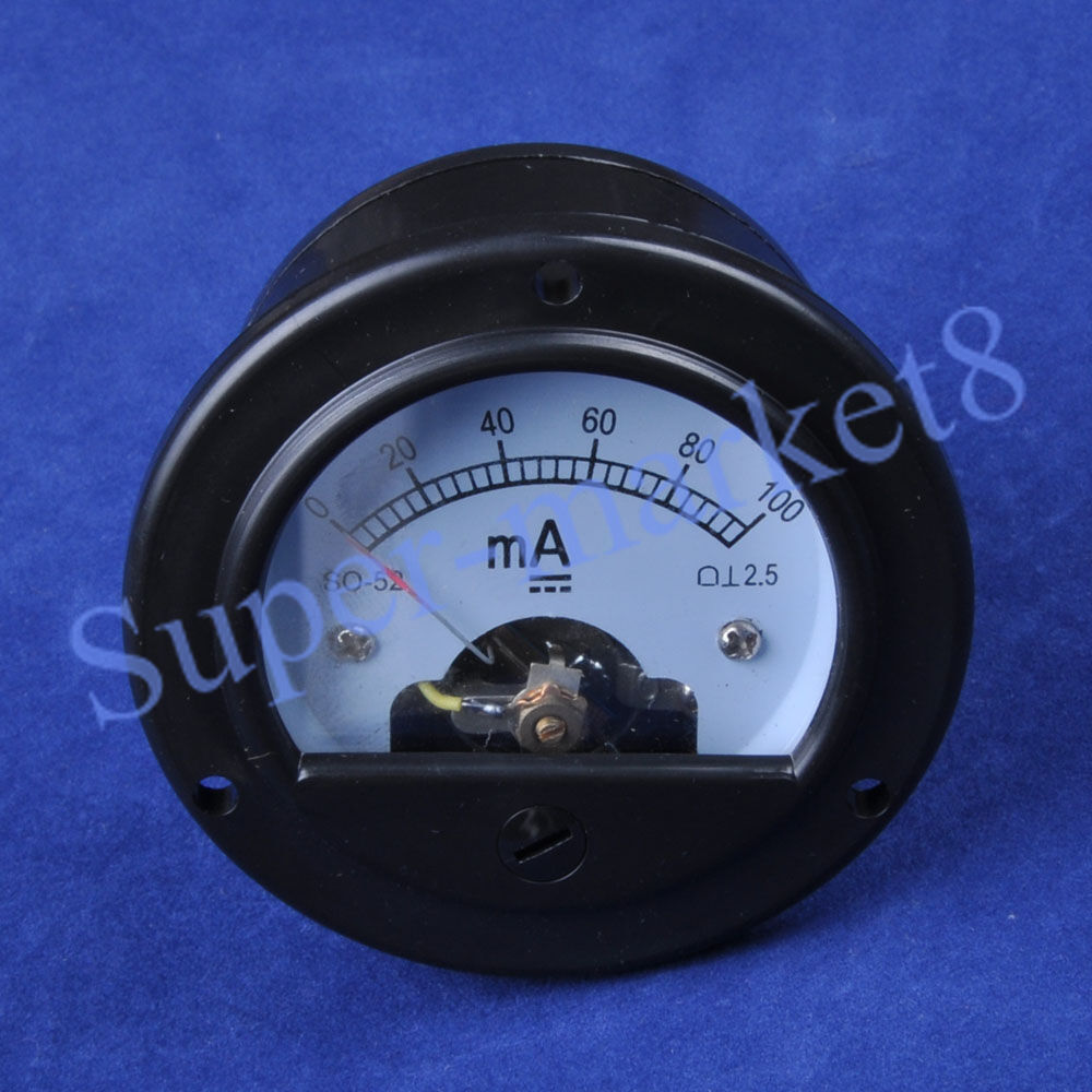 100ma panel meter for 300b 2a3 845 50 tube amplifier so52 for Schreibtisch 2 50 meter