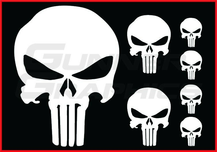 Punisher Pack Fits Ford F150 Rear Window Decal Punisher