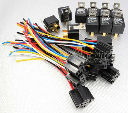 12v car audio 30 40a relay wire harness socket spdt ebay. Black Bedroom Furniture Sets. Home Design Ideas