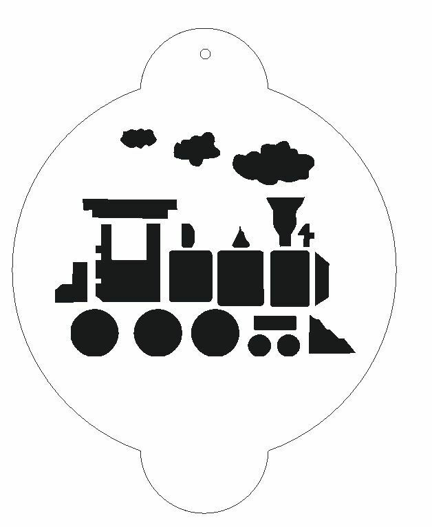 Choo choo train stencil for decorating cake s122 ebay for Thomas pumpkin template