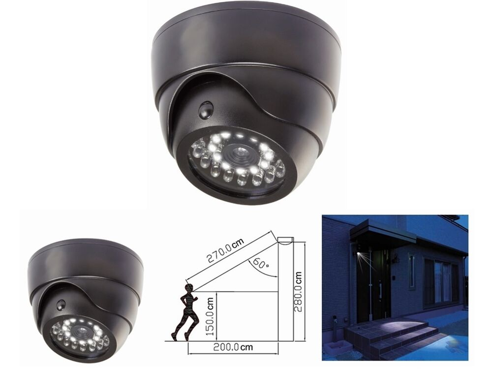 Dummy Cctv Dome Camera Built In Security Led Light