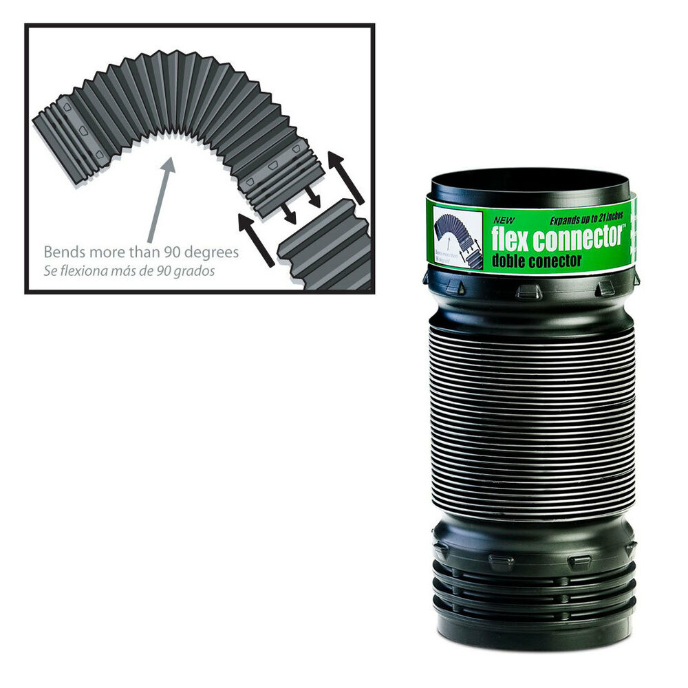 Flex drain flexible elbow corrugated landscaping