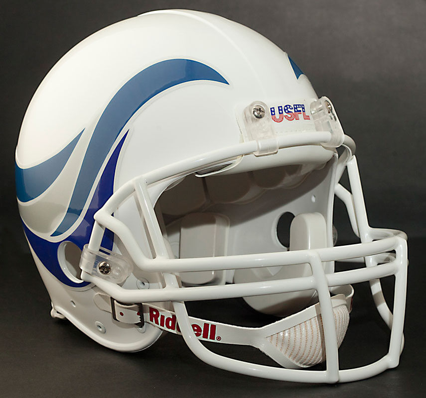 Football Helmet Stickers : New orleans breakers usfl football helmet decals ebay