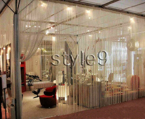 String Curtain with Beads Fringe Panel Room Divider | eBay