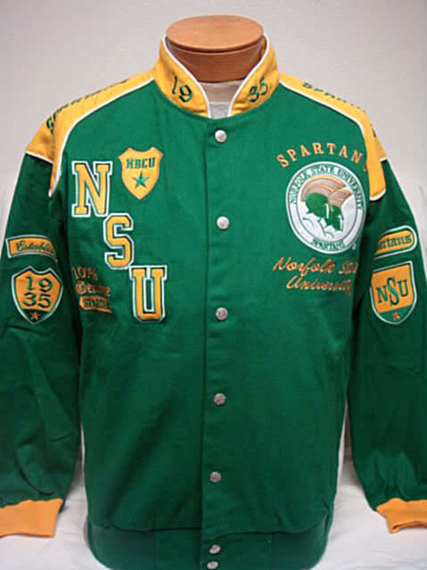 Ford Mustang Shoes >> Norfolk State NSU Spartans Heavyweight Racing Jacket   eBay