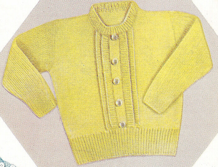 Free Knitting Patterns For Toddler Pullovers : Knitting PATTERN Toddler Knitted Pullover Sweater Top eBay