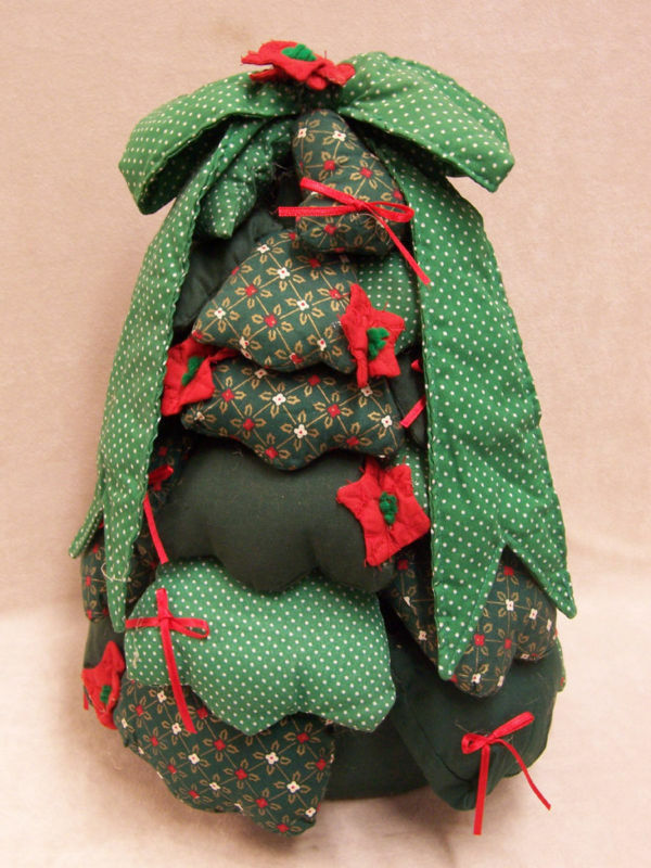 HAND CRAFTED FABRIC WEIGHTED CHRISTMAS TREE DOOR STOP | eBay
