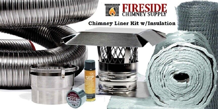 6 Quot X 20 Flexible Chimney Liner Insert Kit W Insulation A