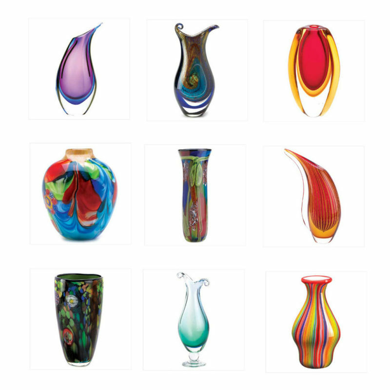 new decorative glass art vase home decor accents ebay. Black Bedroom Furniture Sets. Home Design Ideas