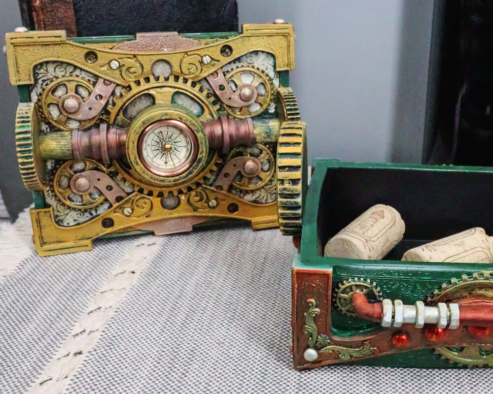 Ring In The Steampunk Decor To Pimp Up Your Home: COLONEL FIZZIWIGS STEAMPUNK JEWELRY BOX + COMPASS MACHINE