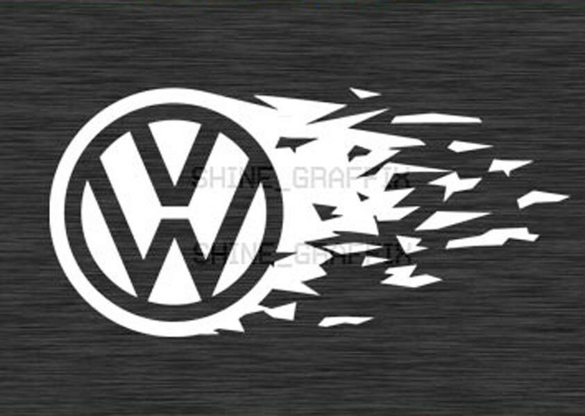 Vw Emblem Tear Decal Sticker Jetta Gti Golf R32 Polo Vw