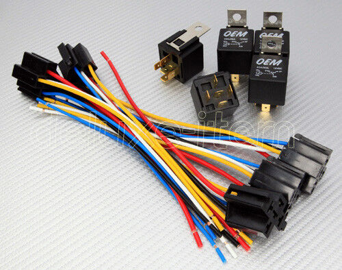 12vdc Car Audio 30  40a Relay Wire Harness Socket Spdt