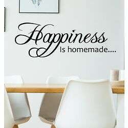 Happiness Is Homemade Wall Sticker Decal Words Vinyl Adhesive Removable Kitchen