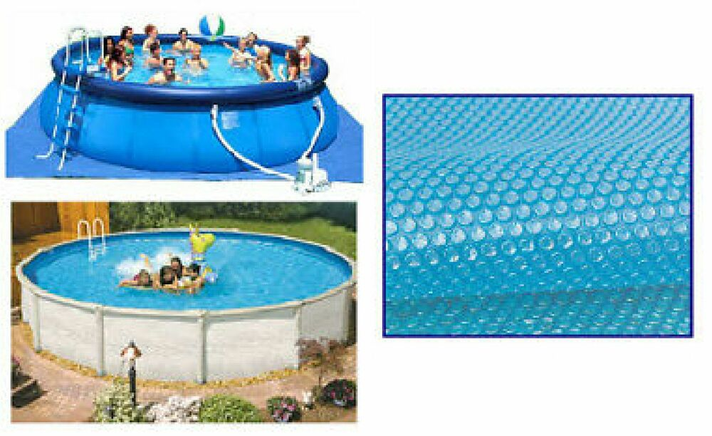 8ft Diameter Blue 200 Micron Swimming Pool Solar Cover Bubble Covers Ebay