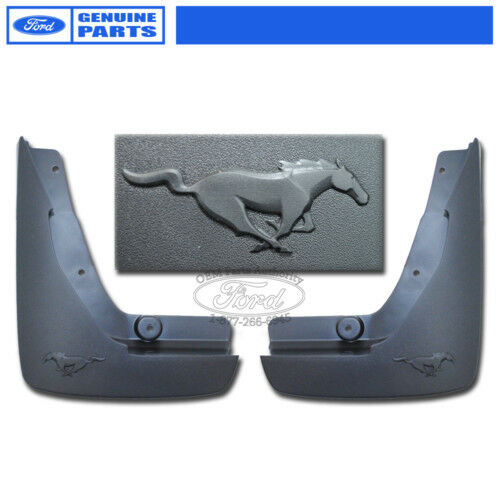 New Oem 2010 2012 Mustang V6 3 7l Rear Moulded Mud Flaps