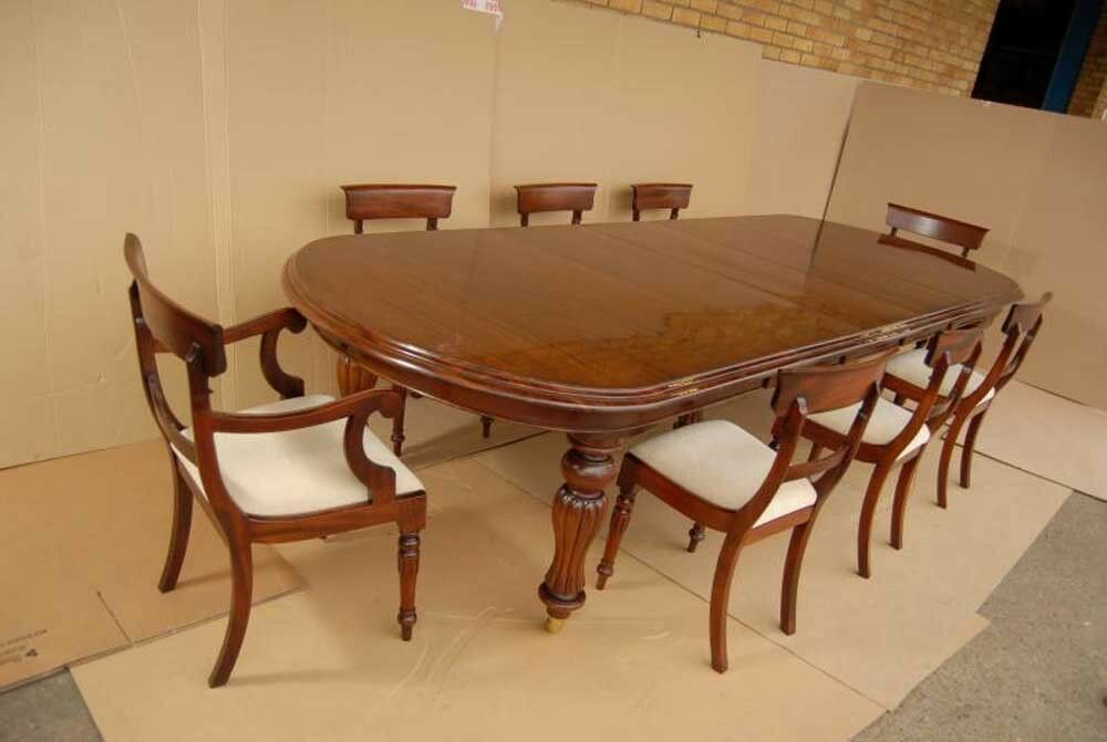 Victorian Dining Table Set William IV Chairs Suite EBay