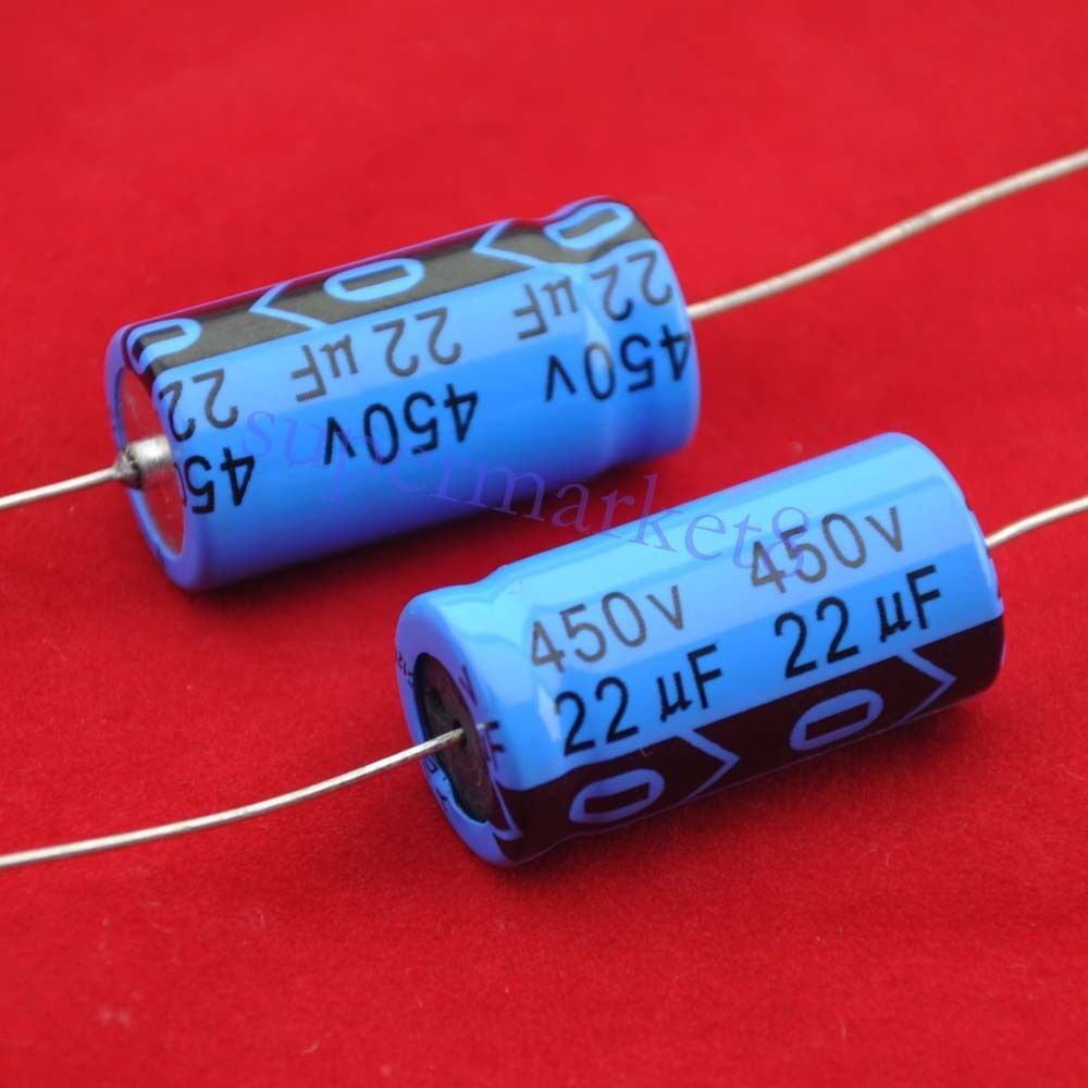 2pcs Axial Electrolytic Capacitor 22uf 450v Tube Amp Diy