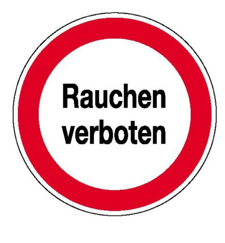 rauchverbot schild schilder warnschild t rschild 20cm ebay. Black Bedroom Furniture Sets. Home Design Ideas