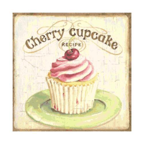 Cherry Cupcake Altered Art Cross Stitch Pattern Chart Ebay